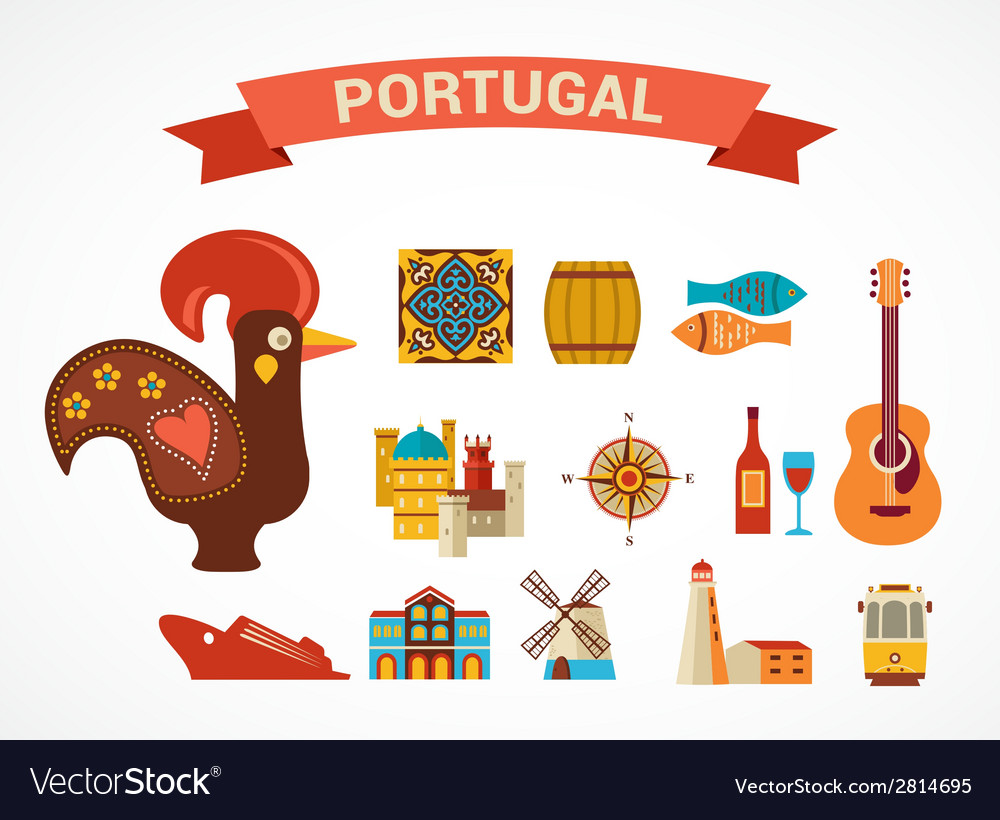 Portugal - set of icons vector | Price: 1 Credit (USD $1)