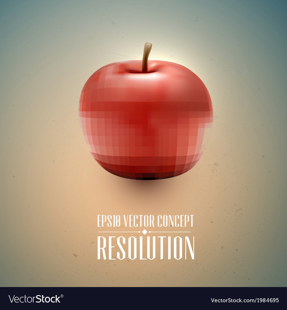 Resolution concept - apple health vector | Price: 1 Credit (USD $1)