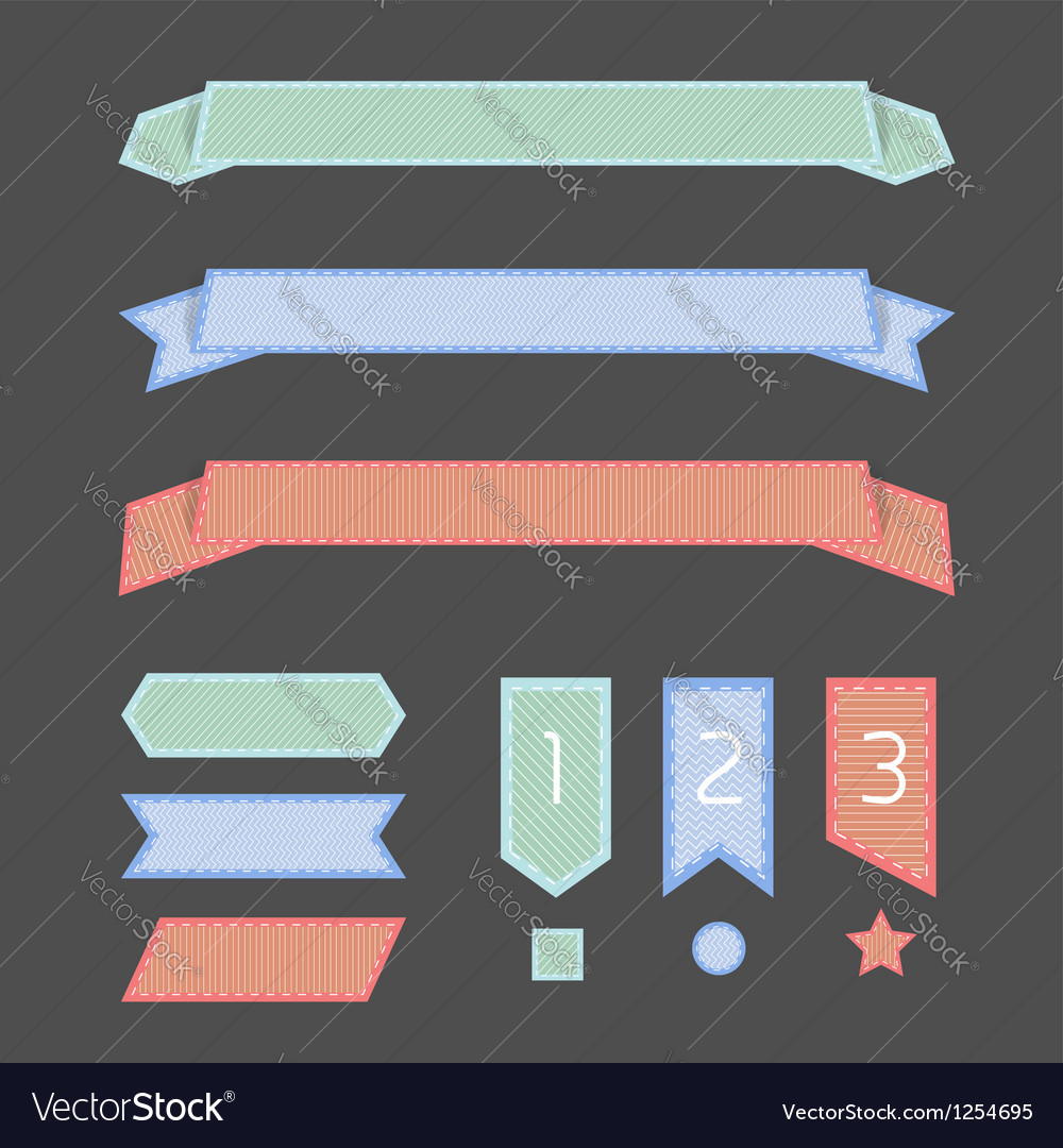 Ribbon banner vector | Price: 1 Credit (USD $1)