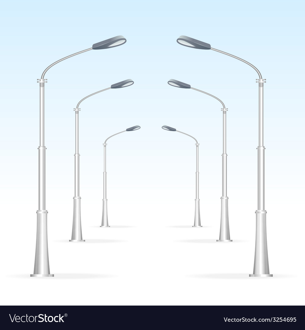 Street lanterns on a white background electricity vector | Price: 1 Credit (USD $1)
