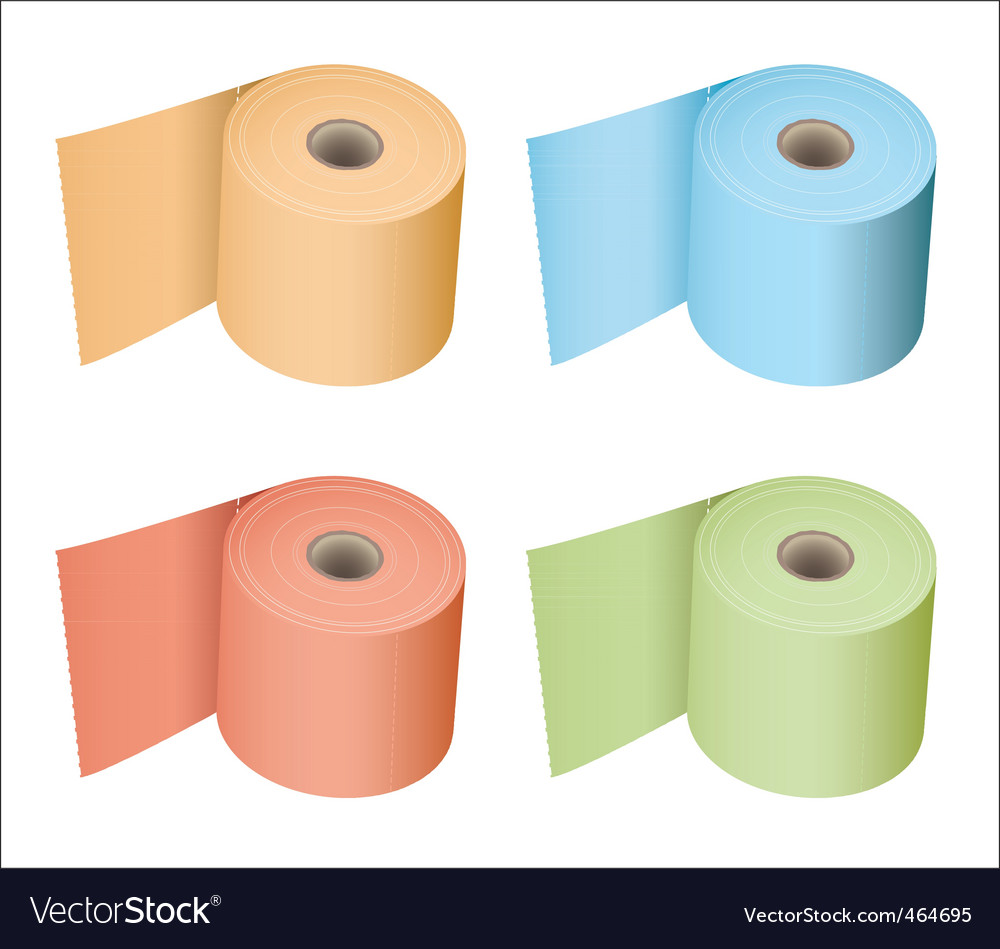 Toilet roll collection vector | Price: 1 Credit (USD $1)