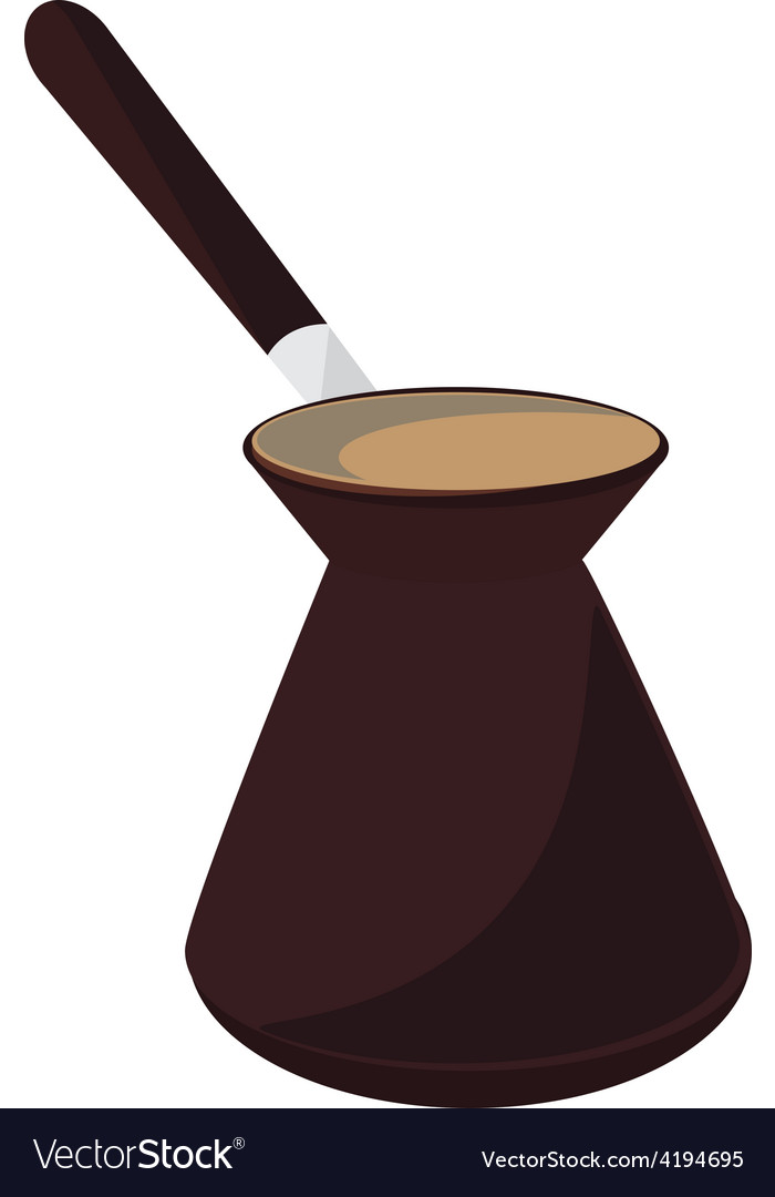 Turkish coffee pot vector | Price: 1 Credit (USD $1)