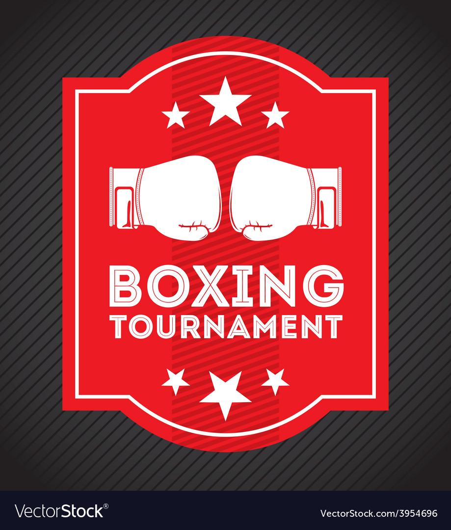 Boxing emblem vector | Price: 1 Credit (USD $1)