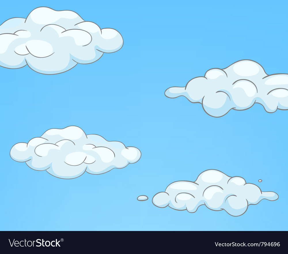Cartoon nature sky clouds vector | Price: 1 Credit (USD $1)