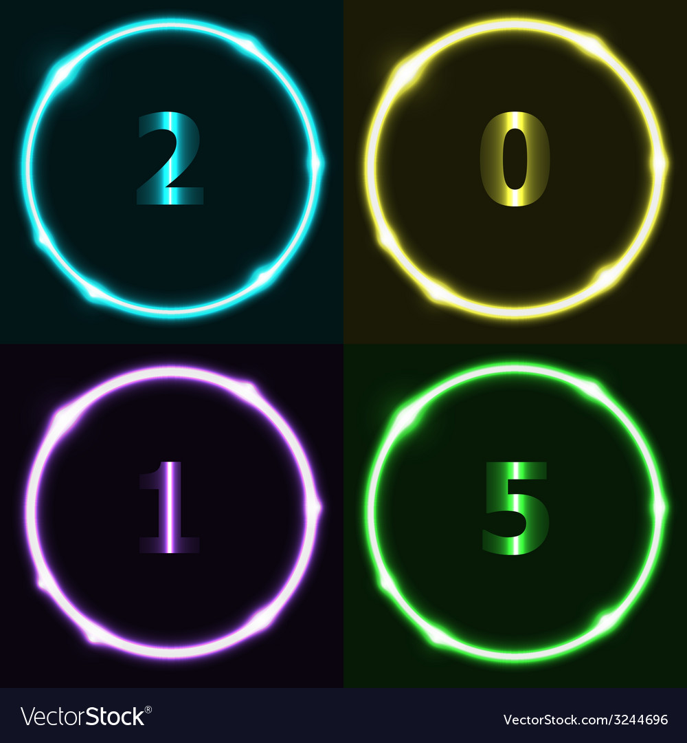 Colorful circle effect with 2015 vector   Price: 1 Credit (USD $1)