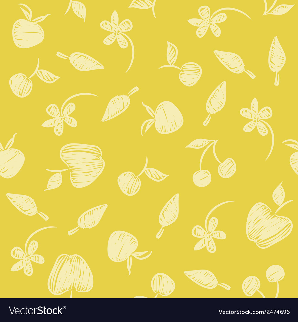 Seamless pattern with silhouettes fruit berries vector | Price: 1 Credit (USD $1)