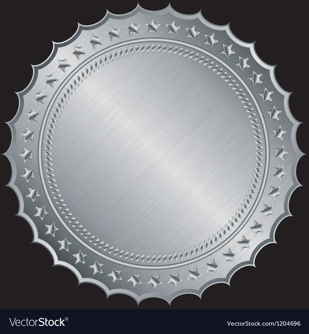 Silver certificate badges vector | Price: 1 Credit (USD $1)