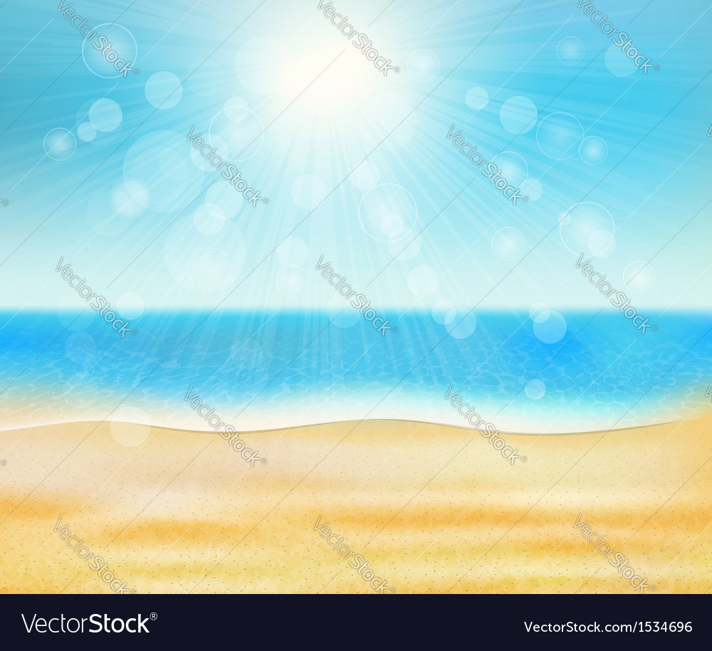 Summer sea beach vector | Price: 1 Credit (USD $1)