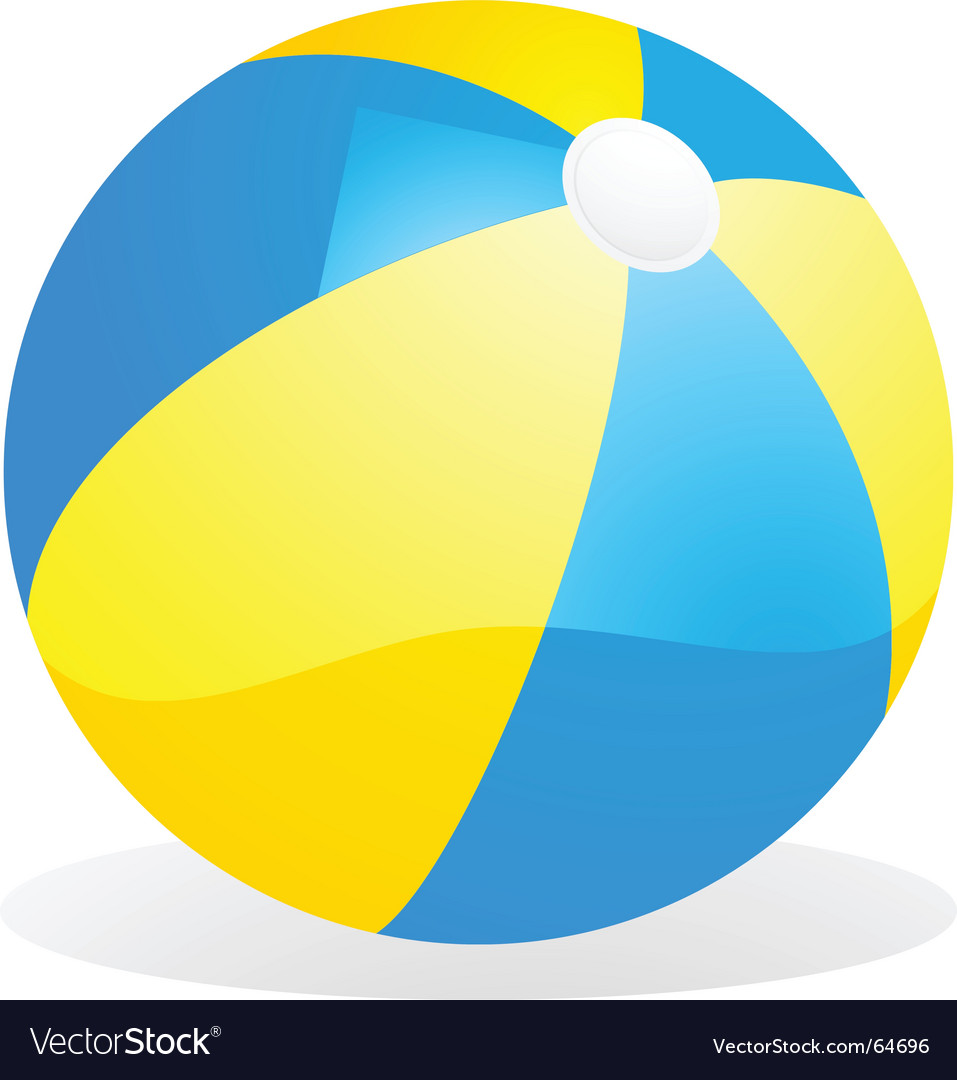 Yellow and blue beach ball vector | Price: 1 Credit (USD $1)