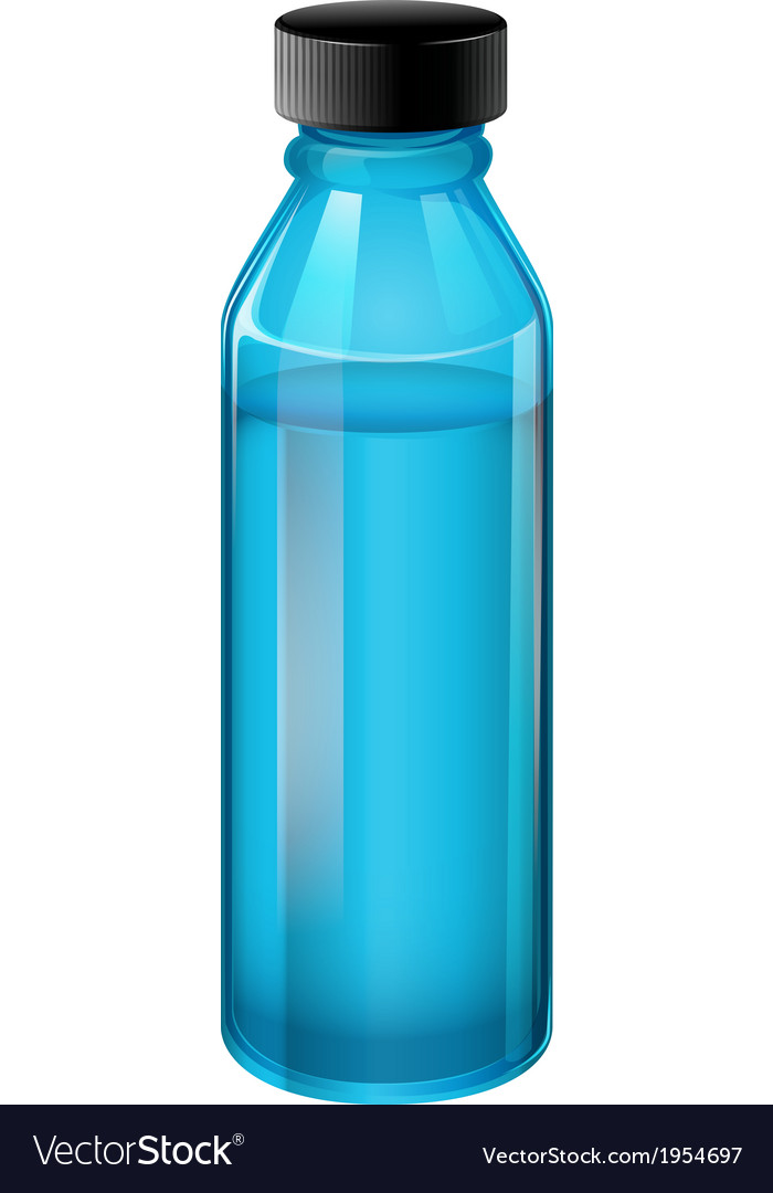 A blue medical bottle with a cover vector | Price: 1 Credit (USD $1)