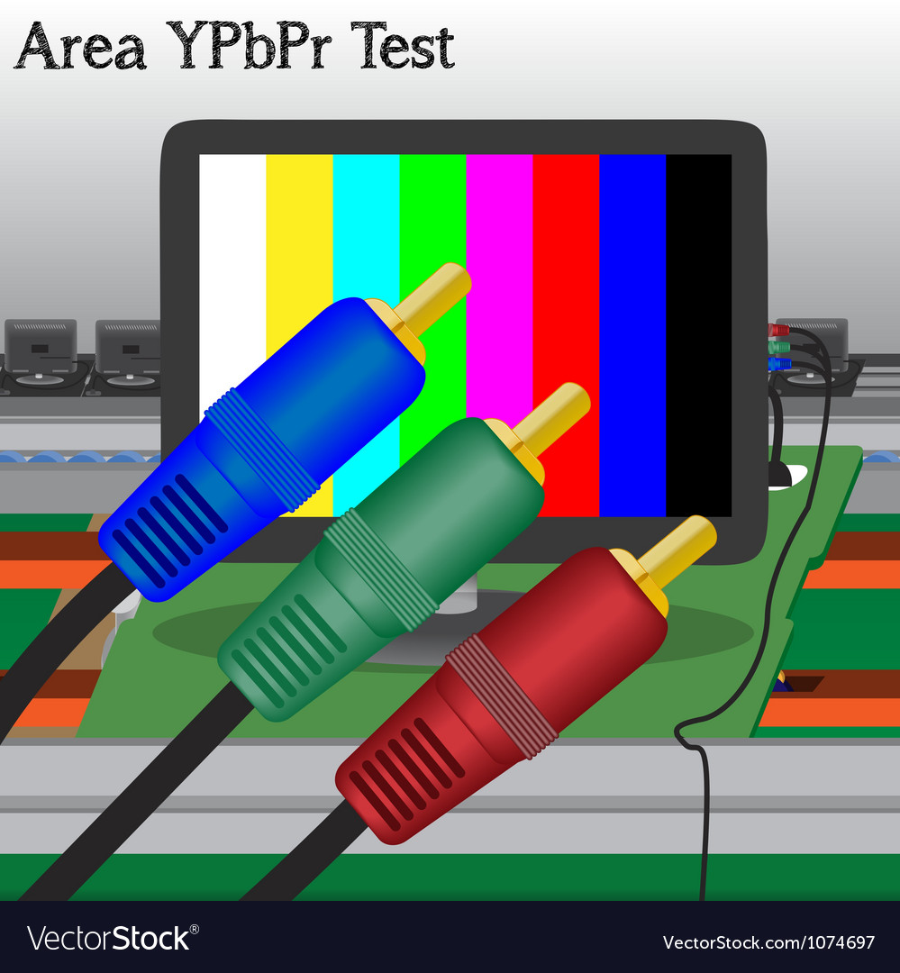Av signal test in process production television of vector | Price: 1 Credit (USD $1)