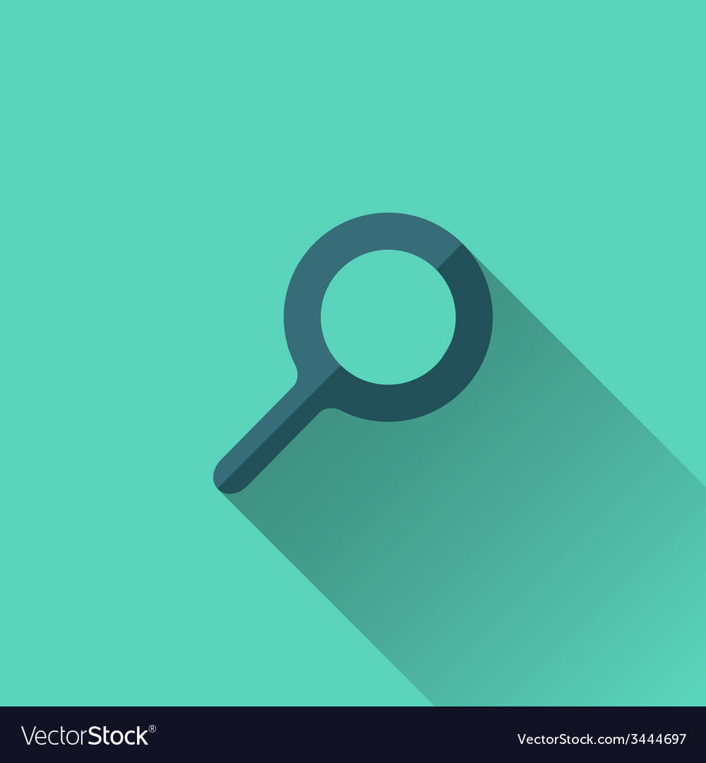 Blue search icon flat design vector | Price: 1 Credit (USD $1)