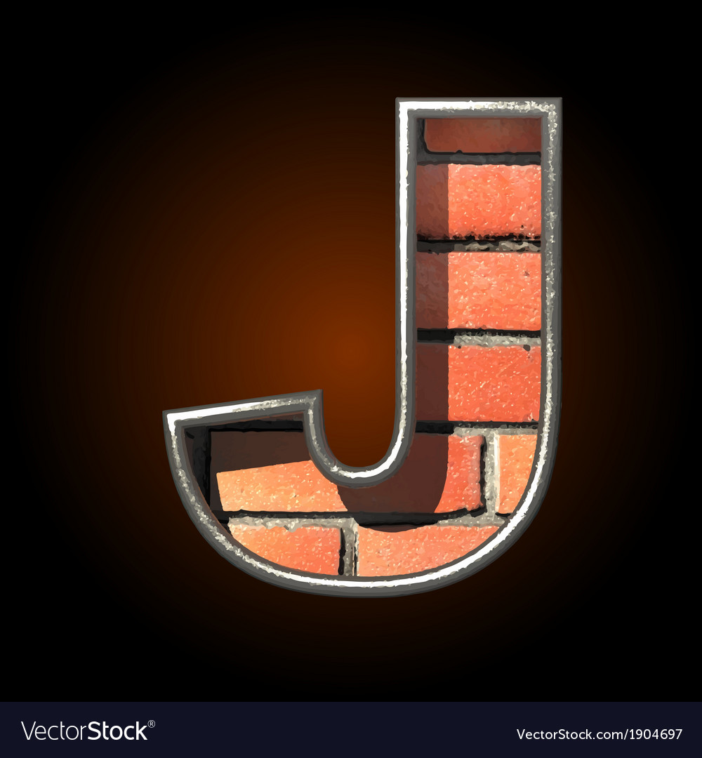 Brick cutted figure j vector | Price: 1 Credit (USD $1)