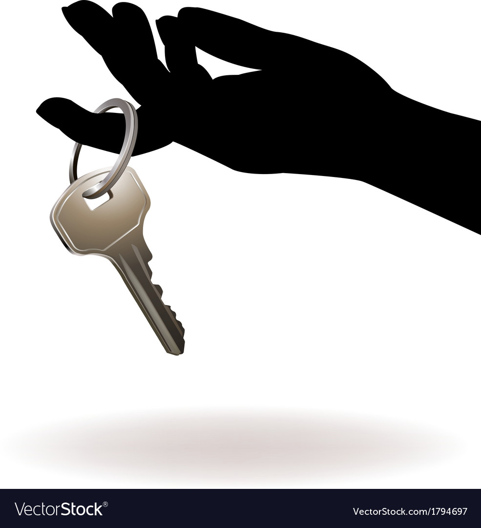 Hand holding key vector   Price: 1 Credit (USD $1)