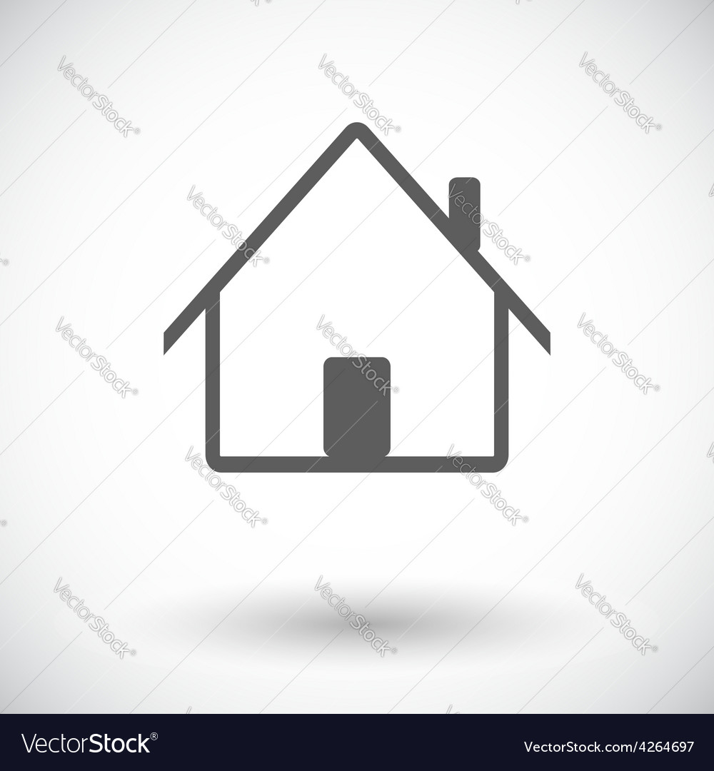 Home single icon vector | Price: 1 Credit (USD $1)