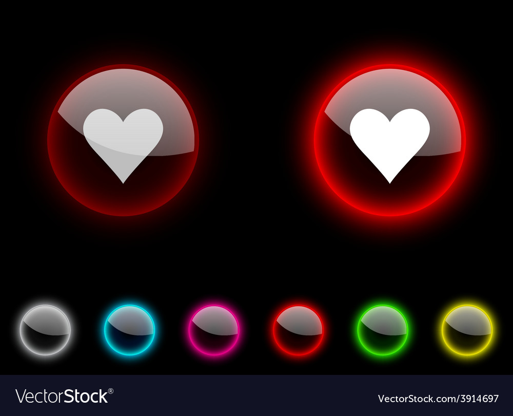 Love button vector | Price: 1 Credit (USD $1)
