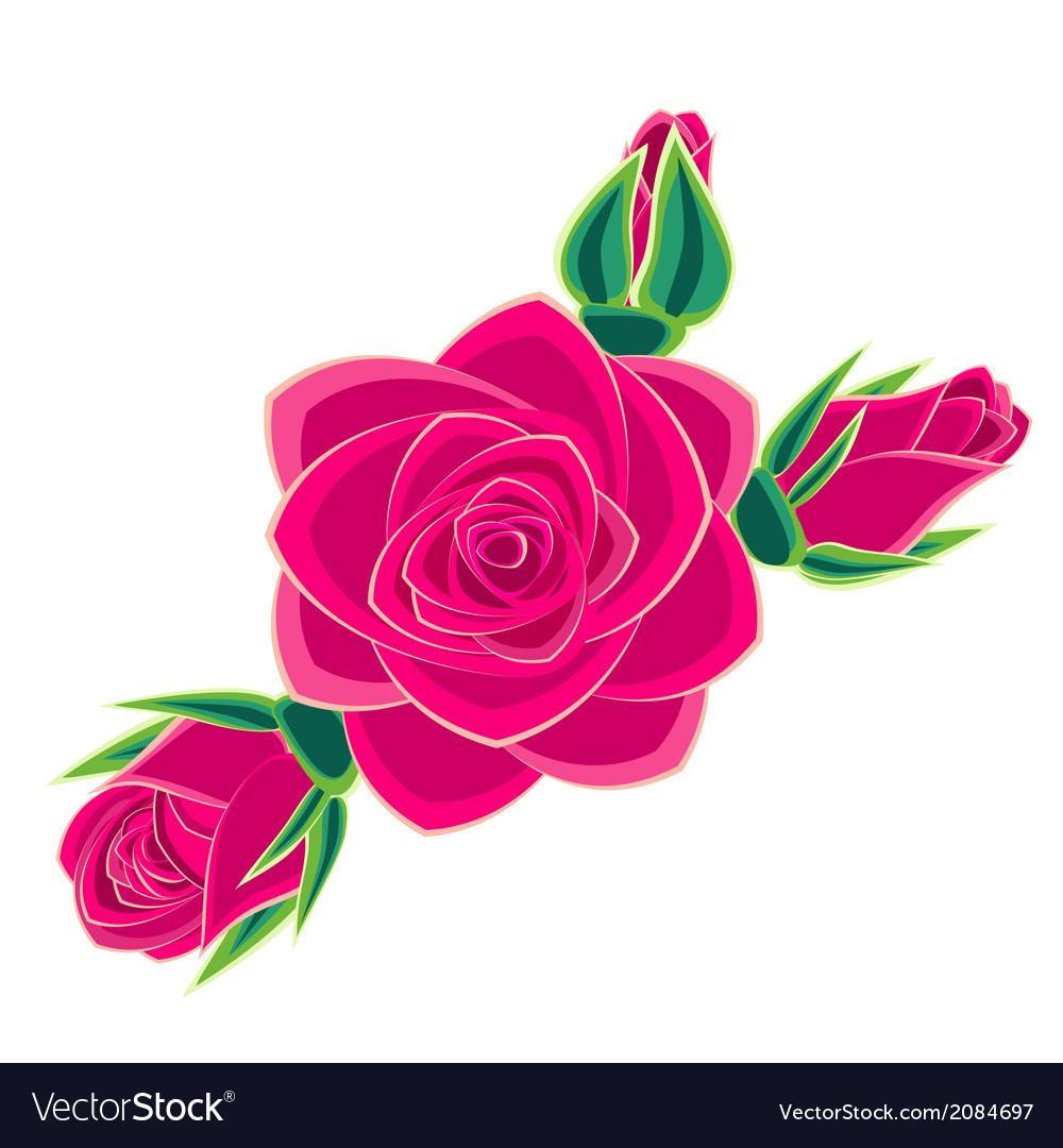 Pink rose vector | Price: 1 Credit (USD $1)