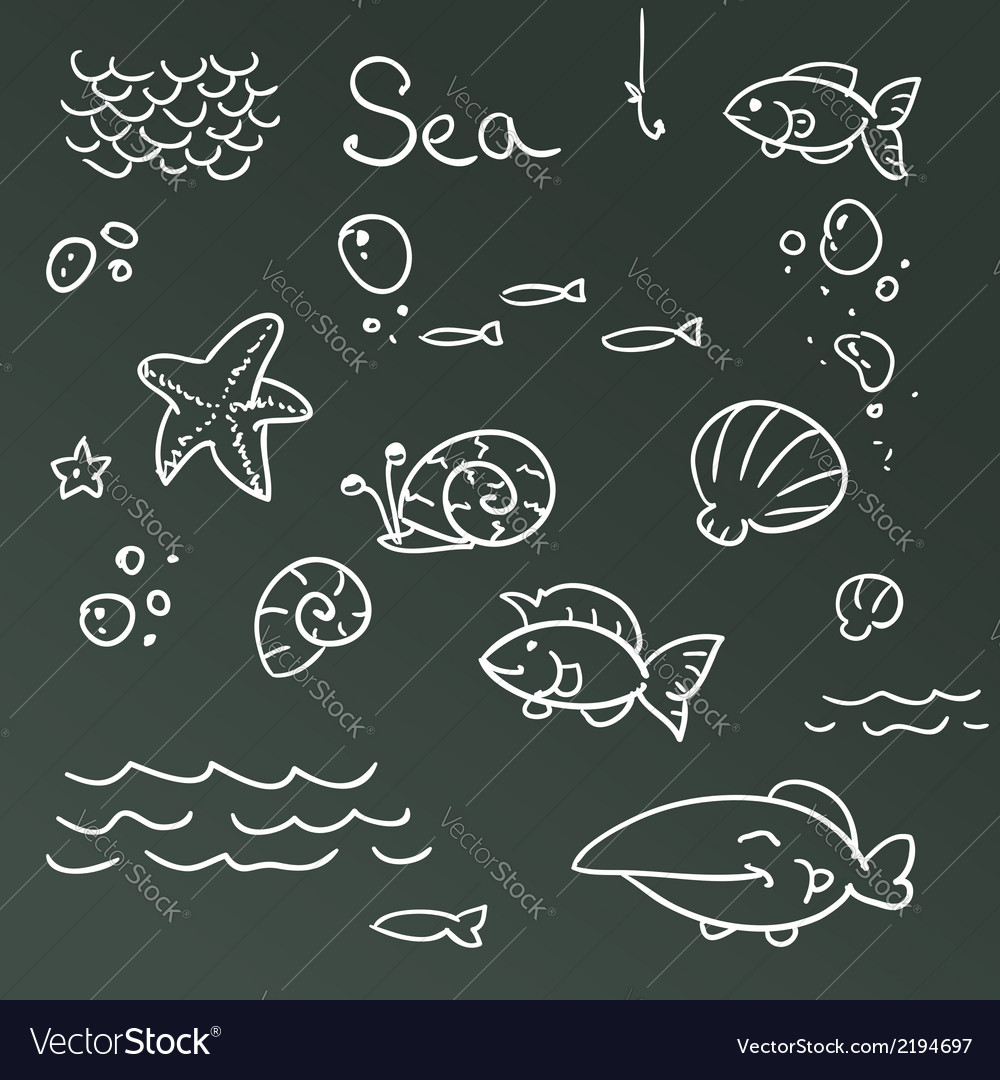 Sea icon set vector | Price: 1 Credit (USD $1)