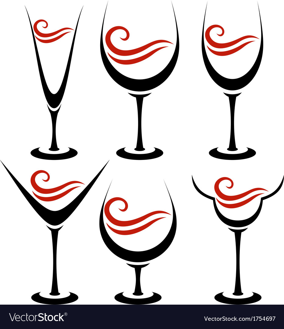 Set of alcoholic glass vector | Price: 1 Credit (USD $1)