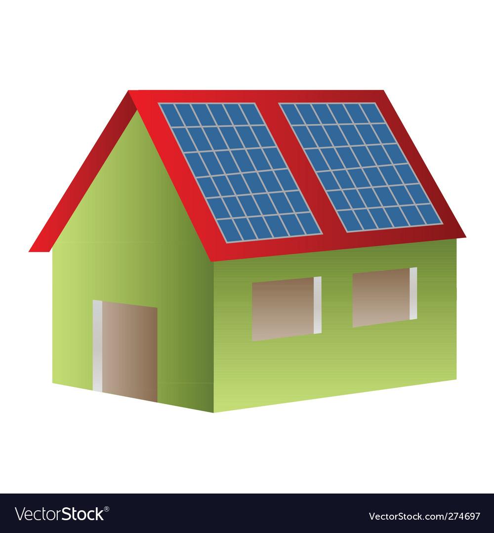 Solar house vector | Price: 1 Credit (USD $1)