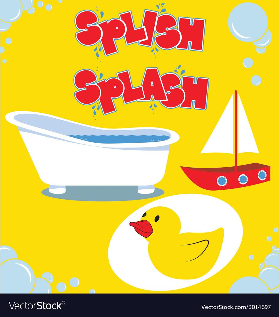 Splish tub splash2 vector | Price: 1 Credit (USD $1)