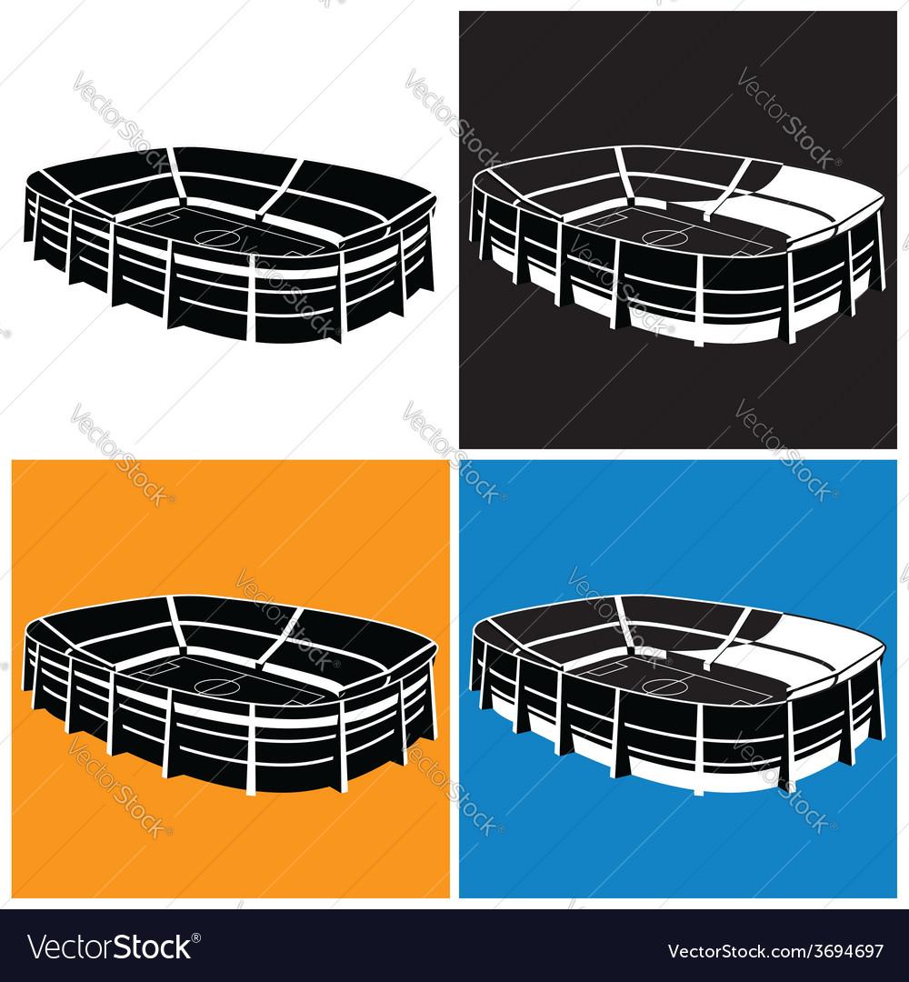 Stadium symbol vector