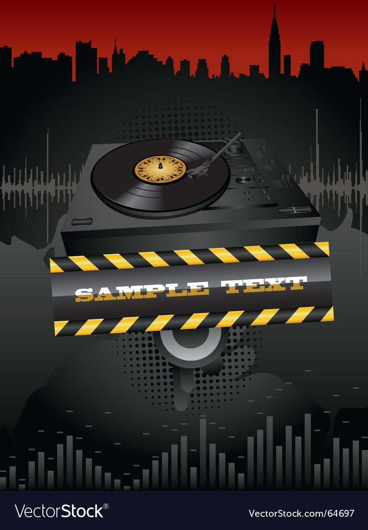 Turntable vector | Price: 3 Credit (USD $3)
