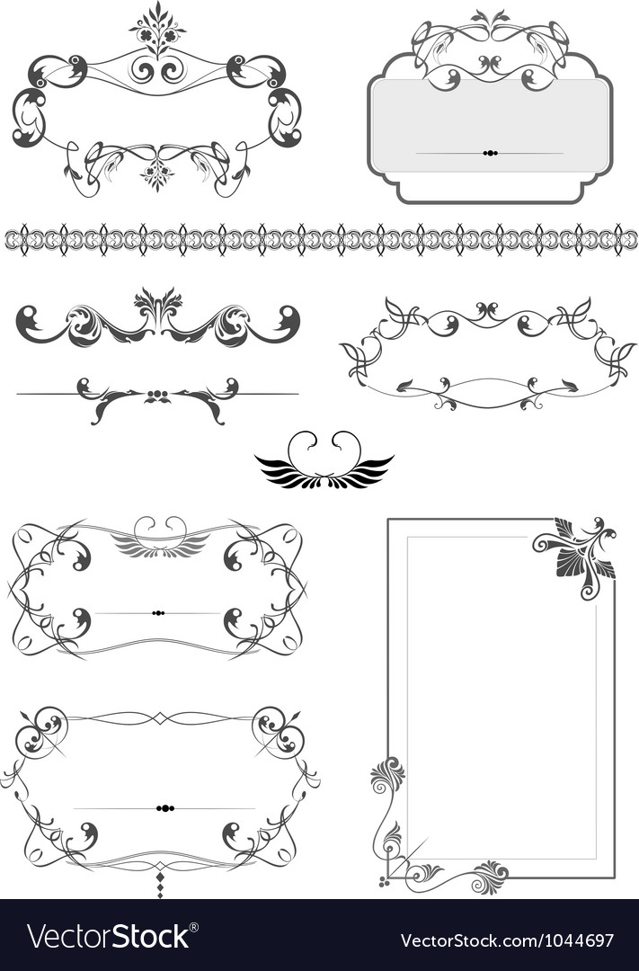 Vintage border frames vector | Price: 1 Credit (USD $1)