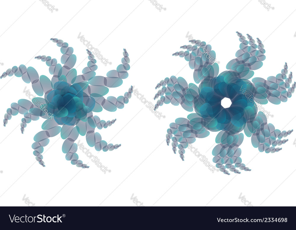Blue green ornament2 vector | Price: 1 Credit (USD $1)