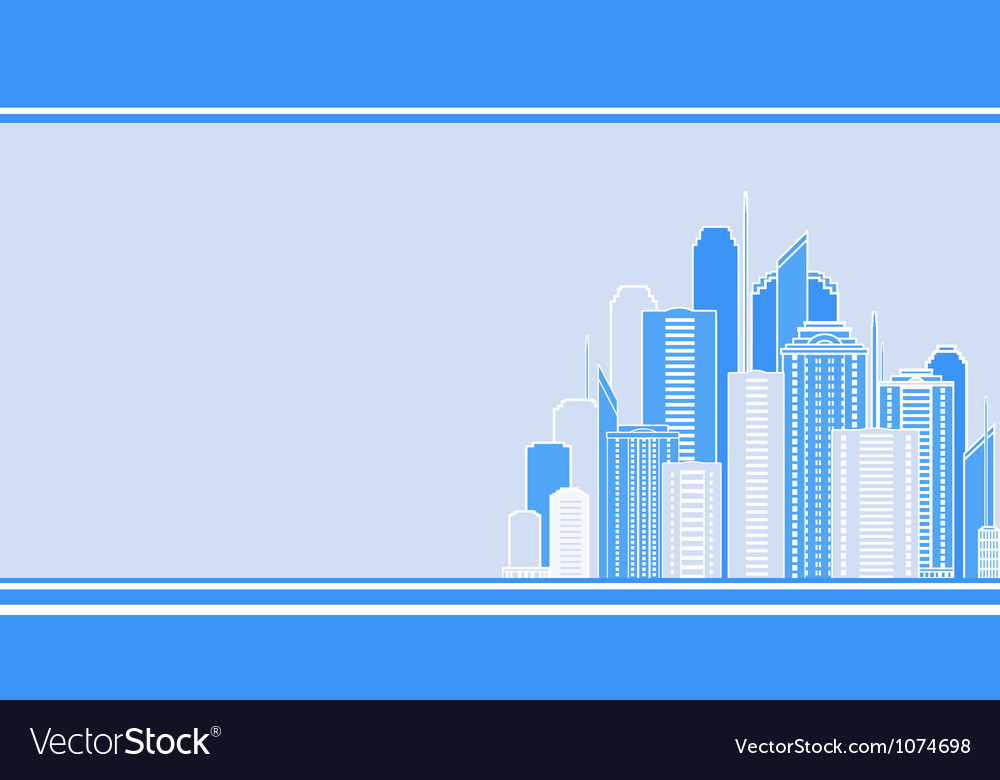 Business card with city landscape vector | Price: 1 Credit (USD $1)