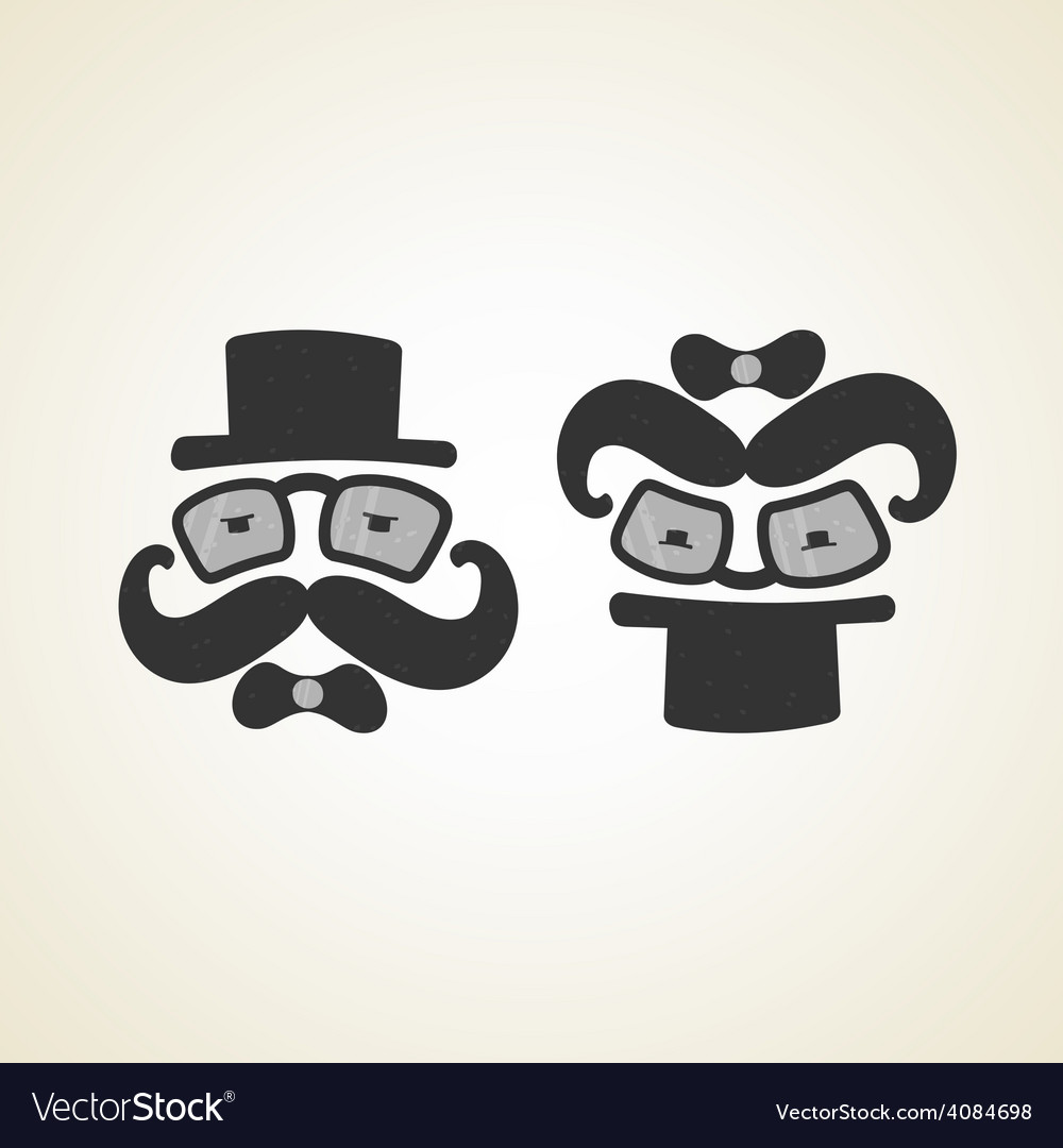 Businessman and baby monochrome logo vector | Price: 1 Credit (USD $1)