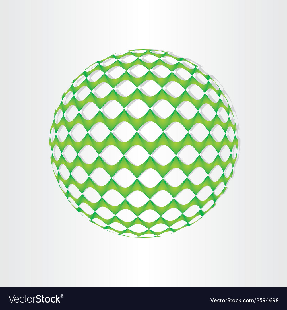 Christmas green decoration ball vector | Price: 1 Credit (USD $1)