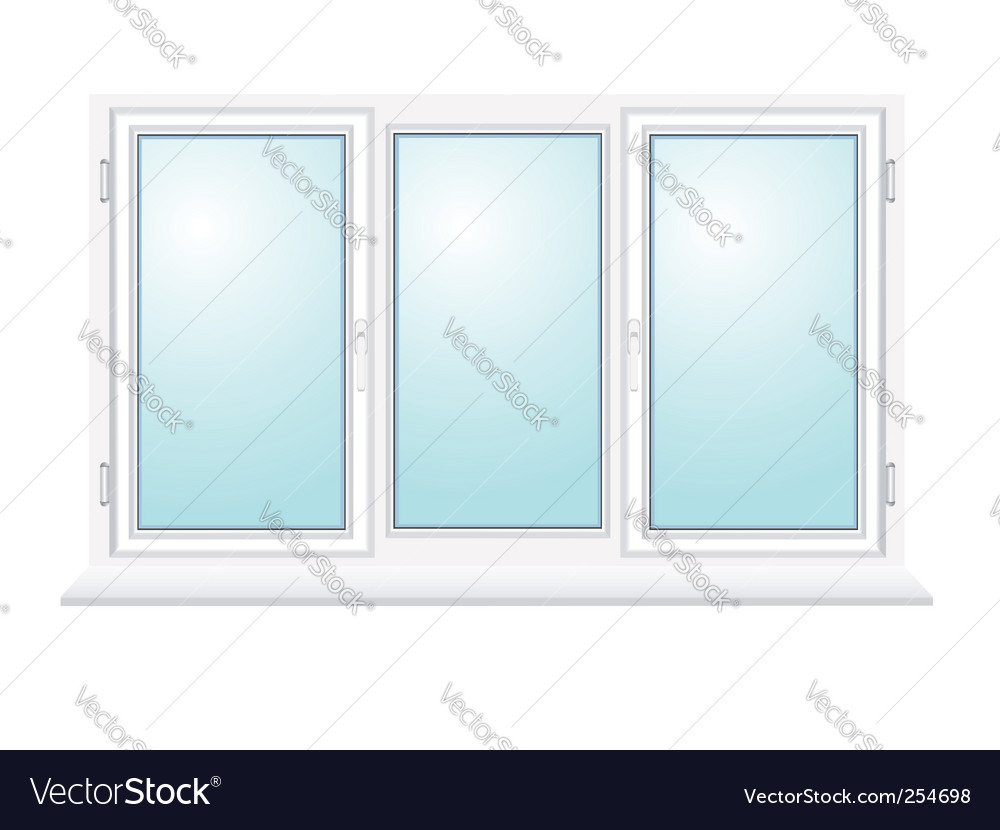Closed plastic glass window illustration vector | Price: 1 Credit (USD $1)