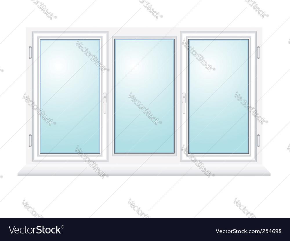 Closed plastic glass window illustration vector | Price: 1 Credit (USD $1)
