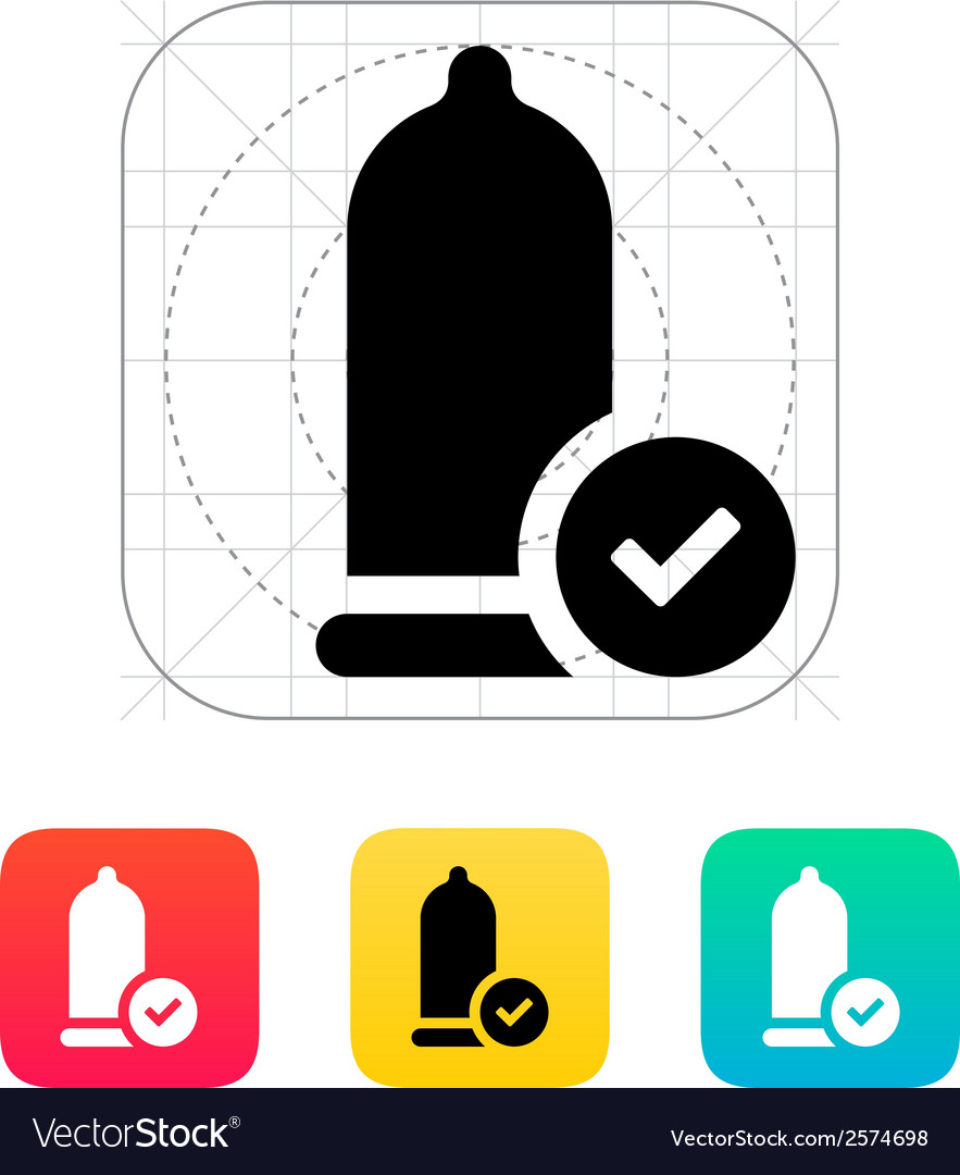 Condom check icon vector | Price: 1 Credit (USD $1)
