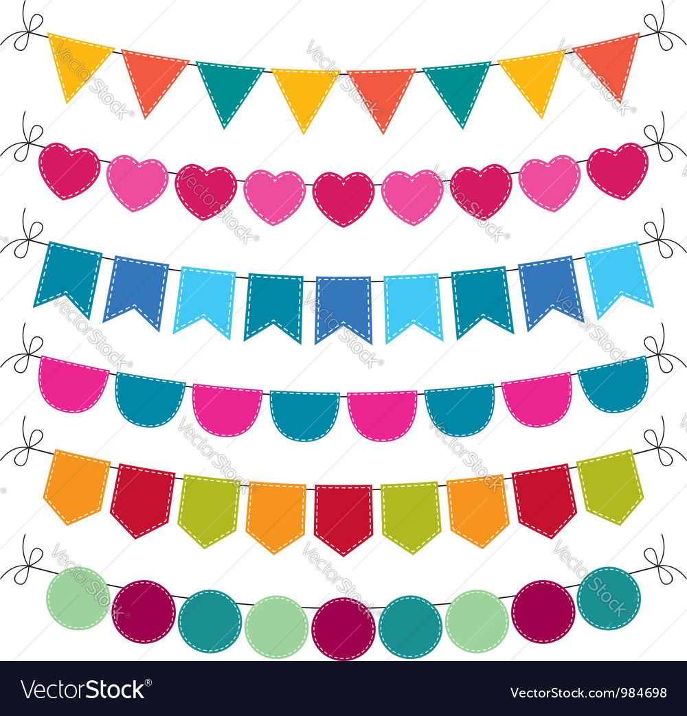 Cute bunting set vector | Price: 1 Credit (USD $1)
