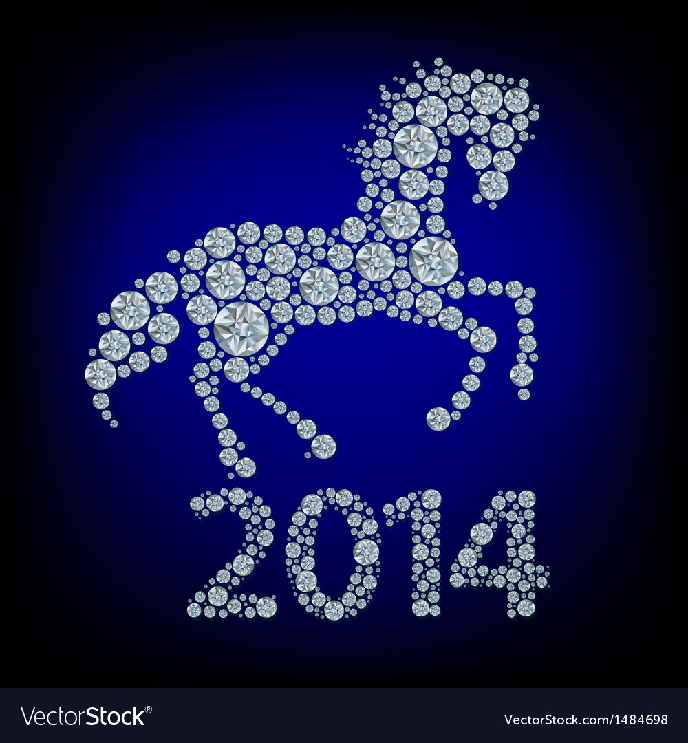 Diamond horse vector   Price: 1 Credit (USD $1)