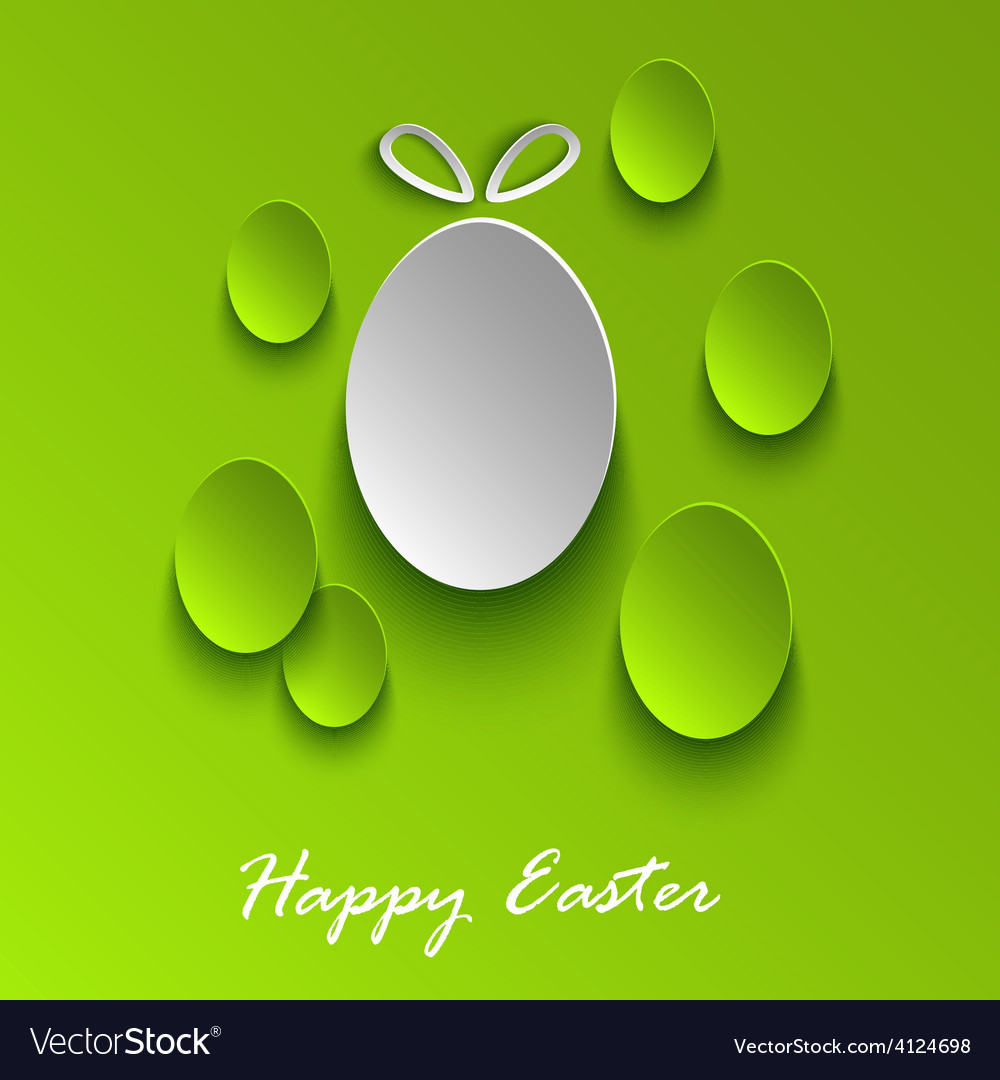 Easter greeting card with abstract green eggs vector | Price: 1 Credit (USD $1)