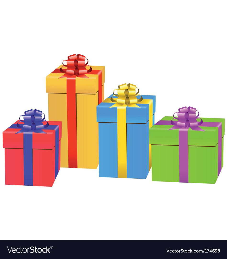 Gift box set vector | Price: 1 Credit (USD $1)