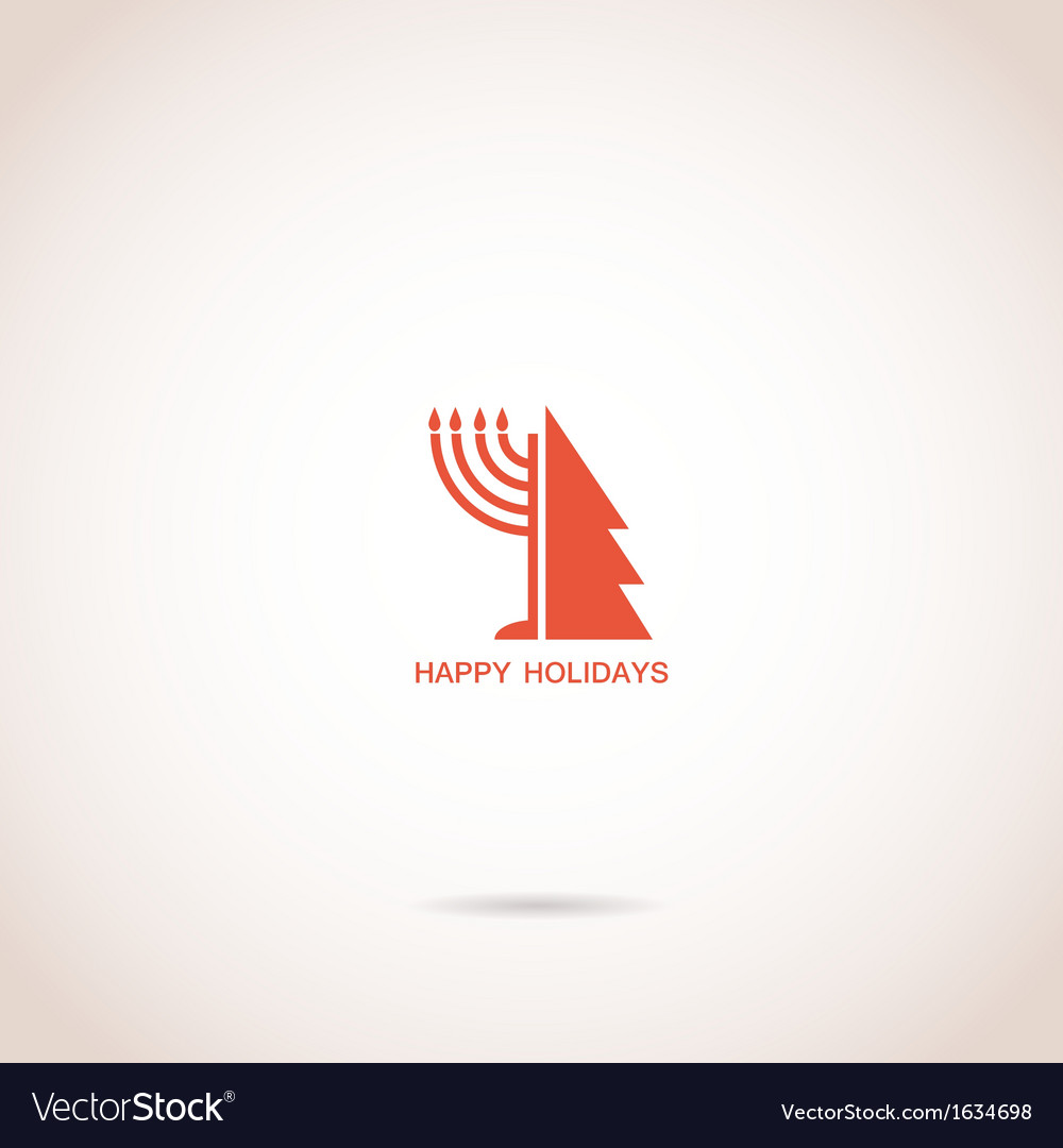 Happy hanukkah and happy holidays vector | Price: 1 Credit (USD $1)