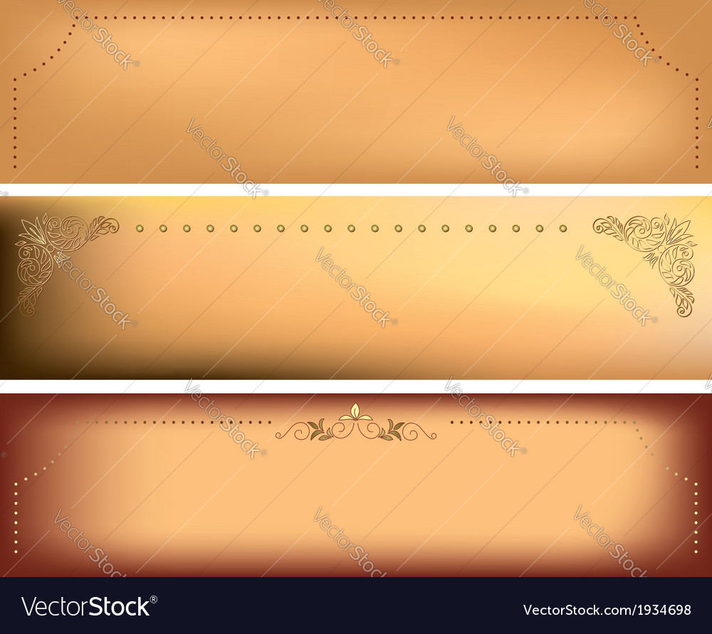 Horizontal backgrounds with decorative frames vector | Price: 1 Credit (USD $1)