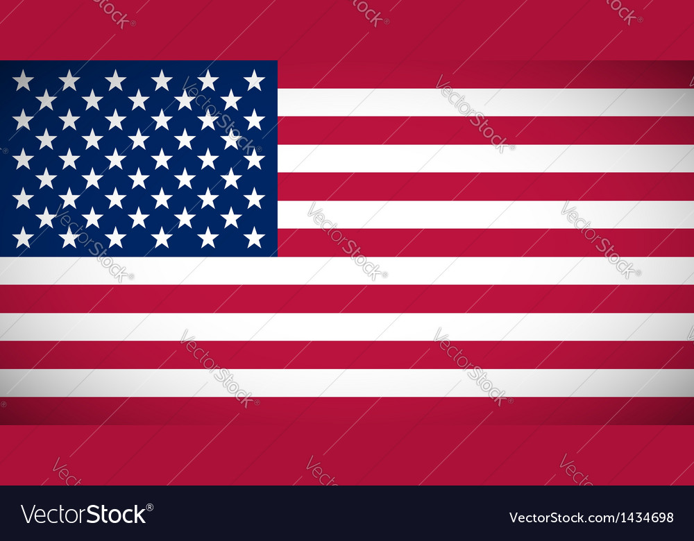 National flag of the usa vector | Price: 1 Credit (USD $1)