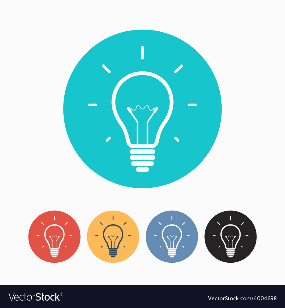 Set of simple colorful light bulb icons vector   Price: 1 Credit (USD $1)