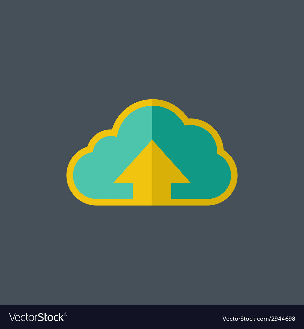 Upload flat icon vector | Price: 1 Credit (USD $1)