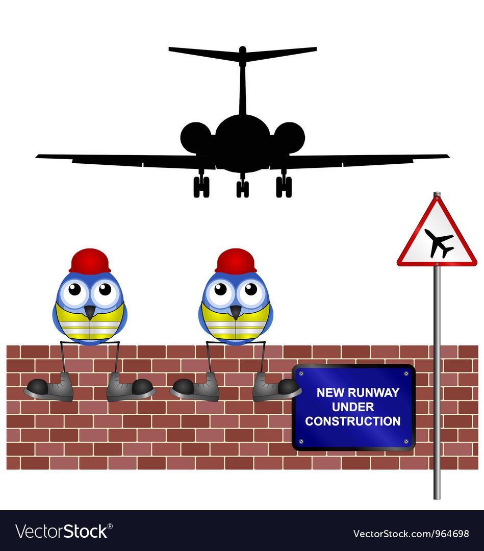 Workers new runway vector | Price: 1 Credit (USD $1)