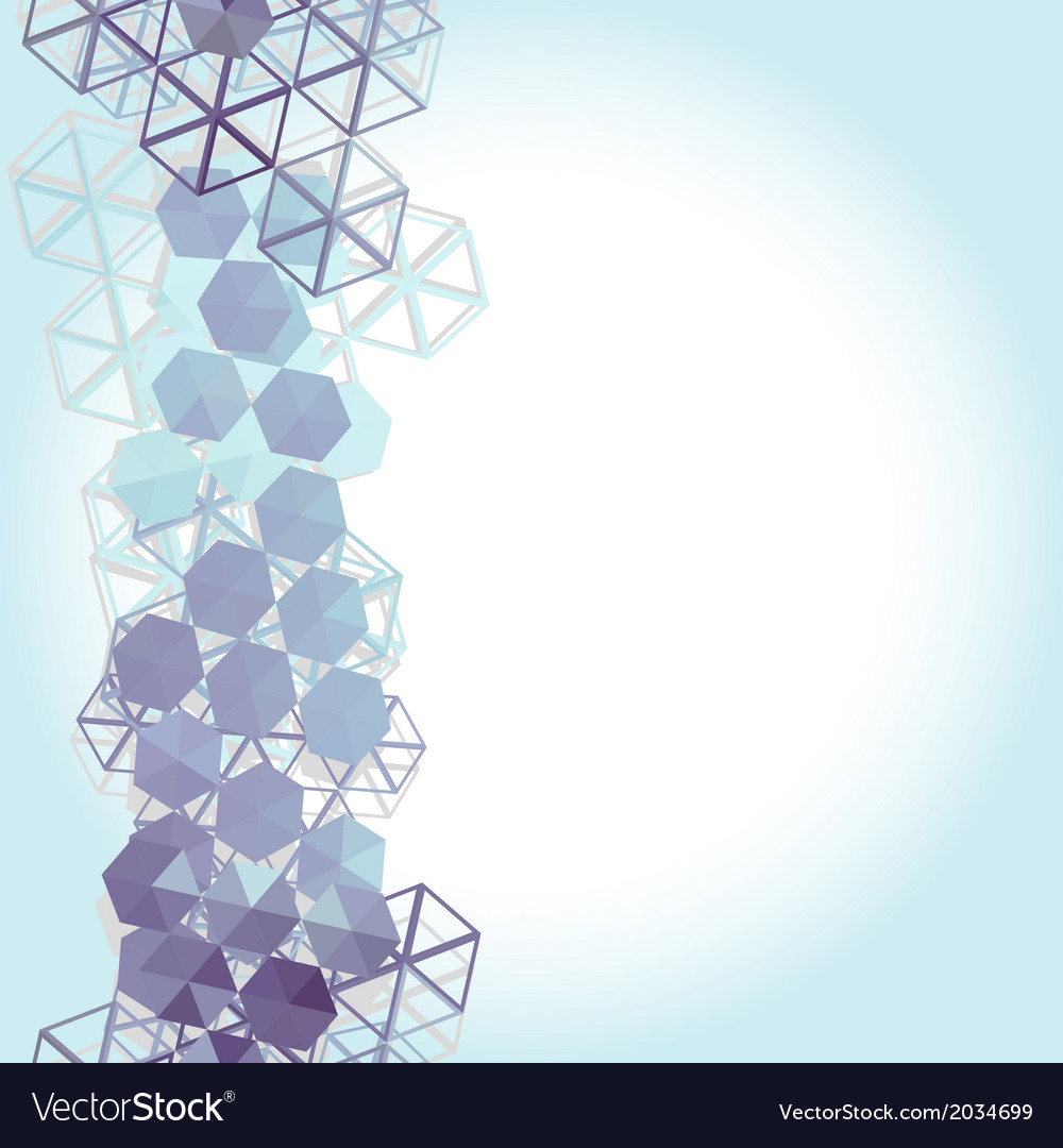 Abstract background with blue lilac hexagons vector | Price: 1 Credit (USD $1)