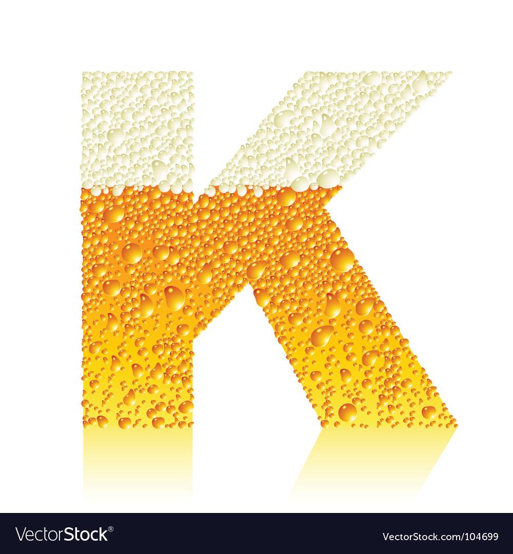 Alphabet beer k vector   Price: 1 Credit (USD $1)