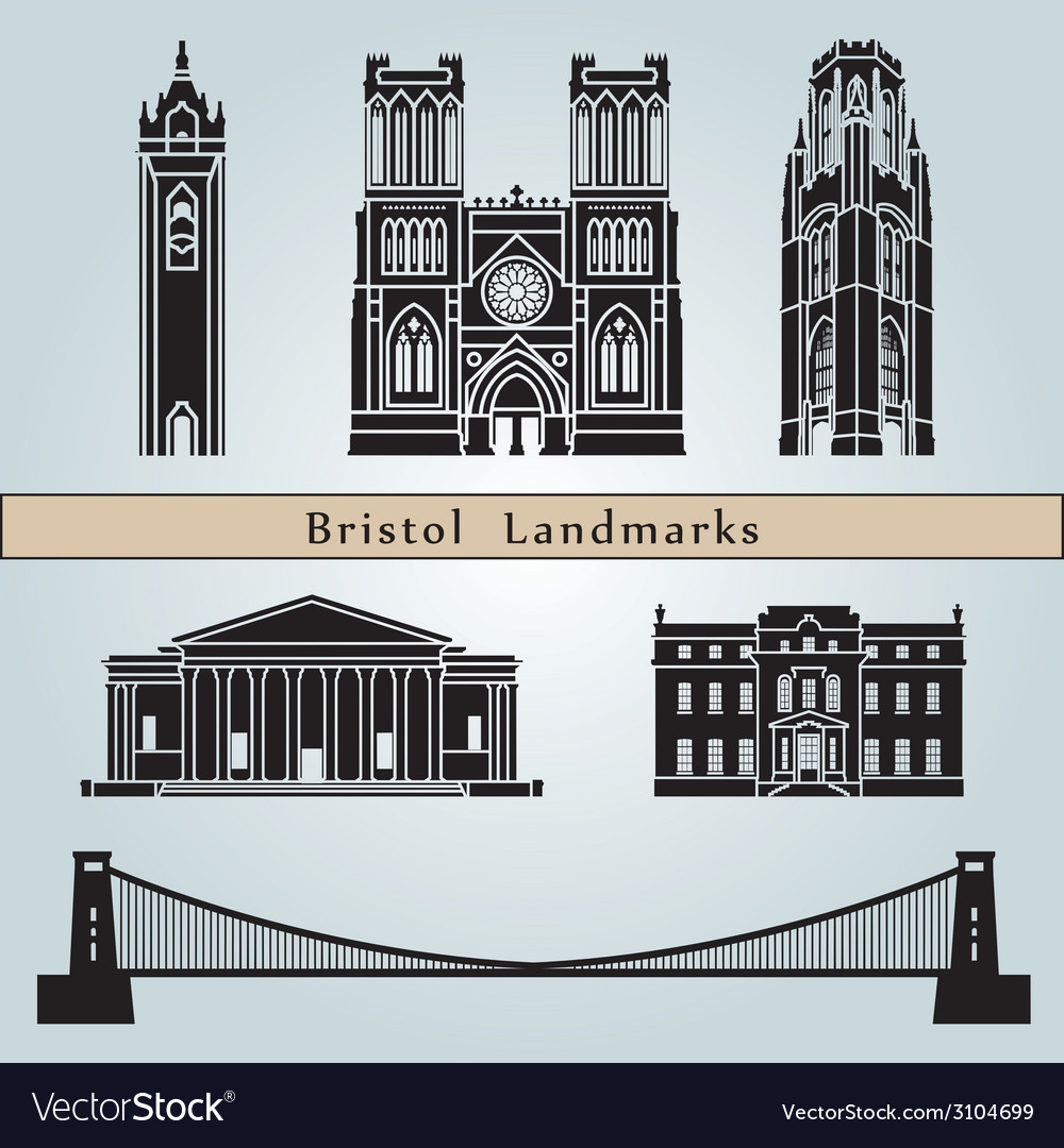 Bristol landmarks and monuments vector | Price: 1 Credit (USD $1)