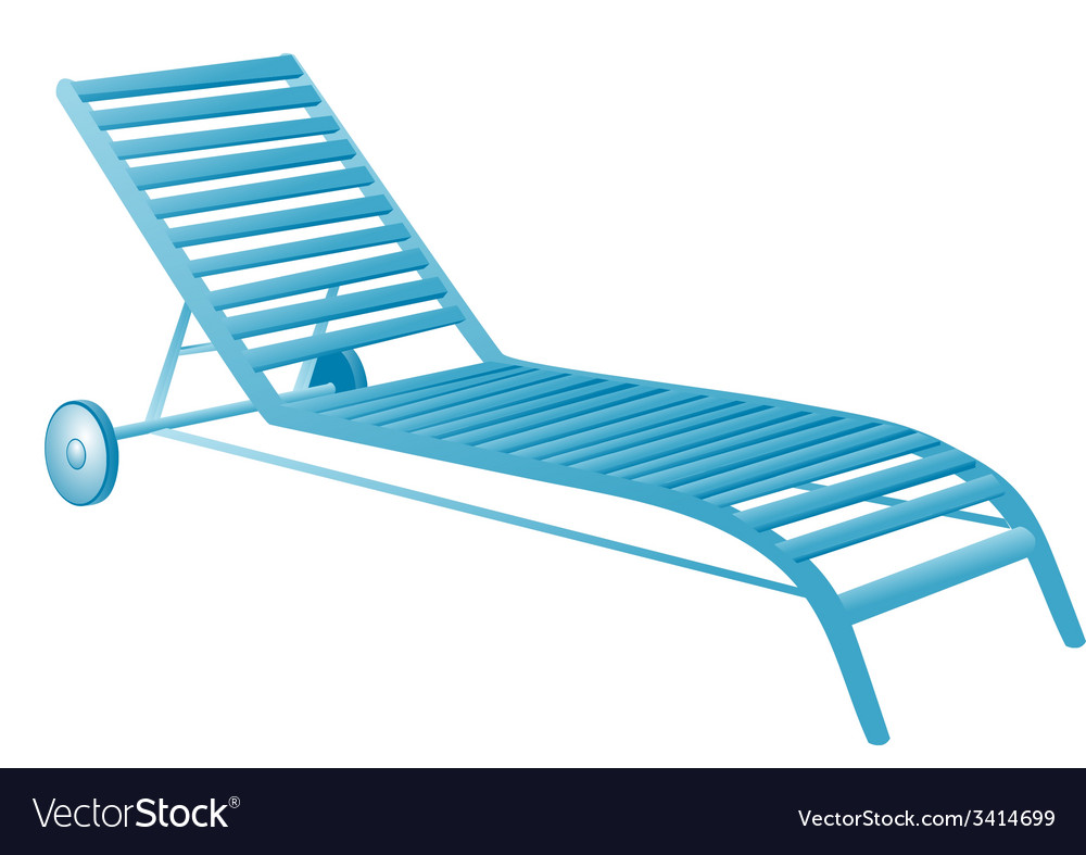 Chair swimming pool vector | Price: 1 Credit (USD $1)
