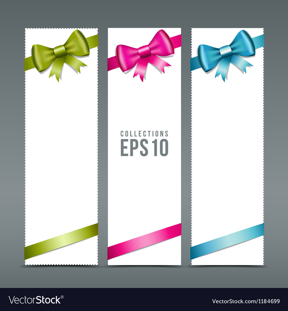 Colorful ribbons and white paper card background vector | Price: 1 Credit (USD $1)